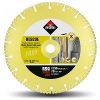 Disc diamantat taiere uscata multimaterial 230x22.2x2.6 mm H 4 mm RESCUE RSQ SUPERPRO RUBI